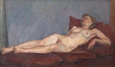 Euan Uglow, Reclining Nude, 1949-50