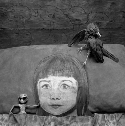 Untitled (girl's head and bird)
