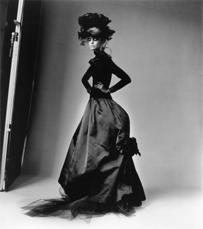 Valentino's 1985 Dress with Feathered Lace Black, New York