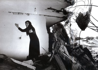 A Palestinian Woman Returning to the Ruins of her House, Sabra, Beirut