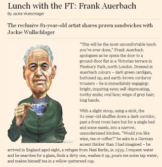 Frank Auerbach: Lunch with the FT