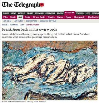 Frank Auerbach: Saturday Telegraph