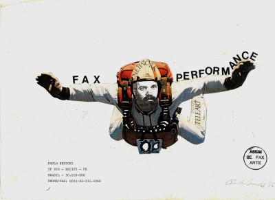 paulo bruscky, fax performance, 1985