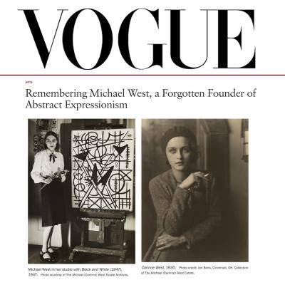 """<p>REMEMBERING MICHAEL WEST, A FORGOTTEN FOUNDER OF ABSTRACT EXPRESSIONISM</p><h1 class=""""content-header__row content-header__hed""""></h1>-<p><span>ARTIST</span></p>"""