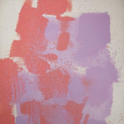 Untitled #58 (Red, Purple, White)-Carl Holty