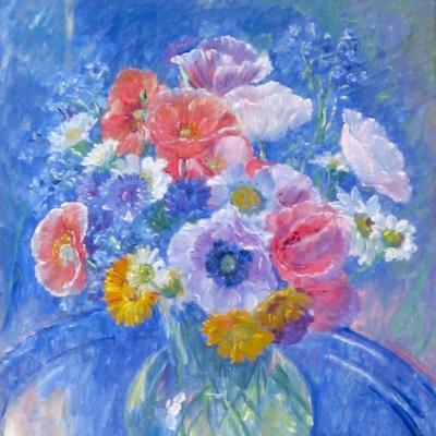 Un Bouquet de Fleurs-William Malherbe