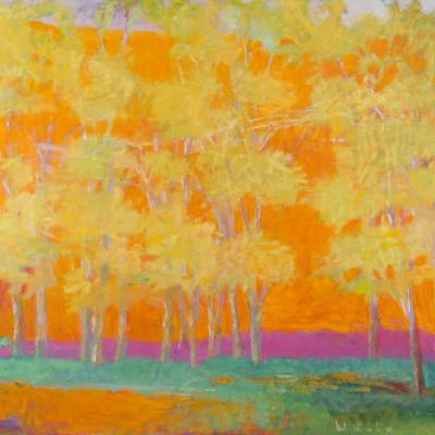 <span class=&#34;artist&#34;><strong>Wolf Kahn</strong></span>, <span class=&#34;title&#34;><em>Trees Against a Red Rising</em>, 1993</span>