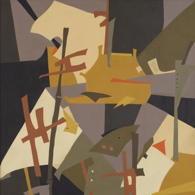 Japanese Abstraction-Esphyr Slobodkina