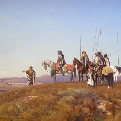 Arabian Knights in Yemen-Eugen Felix Prosper Bracht