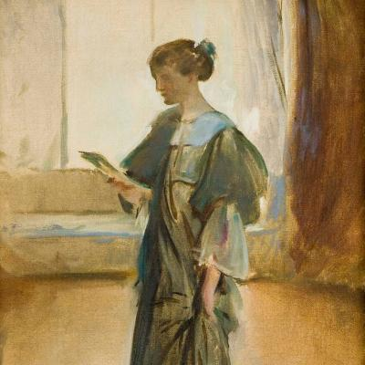Standing Woman Reading a Letter, Onteora Studio-John White Alexander