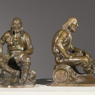 Pair of Miner Bookends-Max Kalish