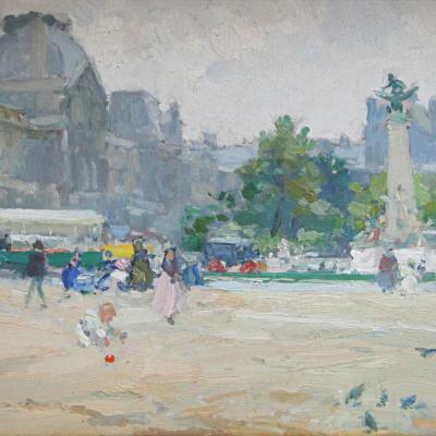 Vue du Louvre-Gennaro Befanio