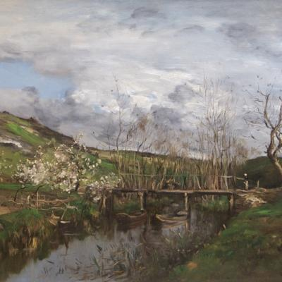 Barbizon Landscape-Jean Baptiste Antoine Guillemet