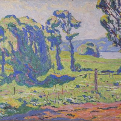 Fauvist Landscape-Allen Tucker
