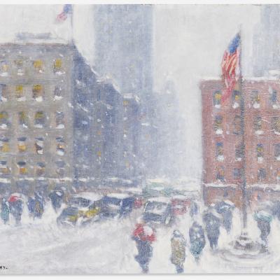 A New York City scene in winter