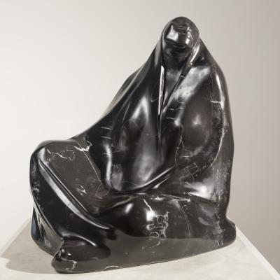 Mujer Sentada con Rebozo-Francisco Zúñiga