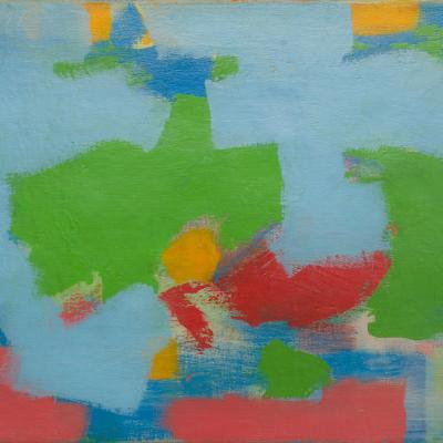 """<span class=""""artist""""><strong>Carl Holty</strong></span>, <span class=""""title""""><em>Abstract</em>, 1959</span>"""
