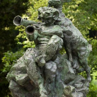 L'Art Pastoral (Monument à Debussy)-Emile Antoine Bourdelle