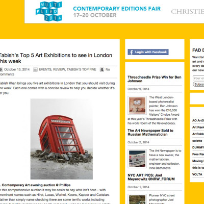 Fadwebsite Top 5 Exhibitions in London