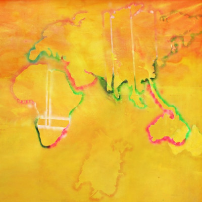'Australia to Africa' (detail), 1971, acrylic on canvas,  280 x 712 cm