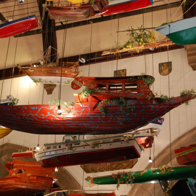 Hew Locke, For those at Peril on the Sea, installation at the Folkestone Triennial
