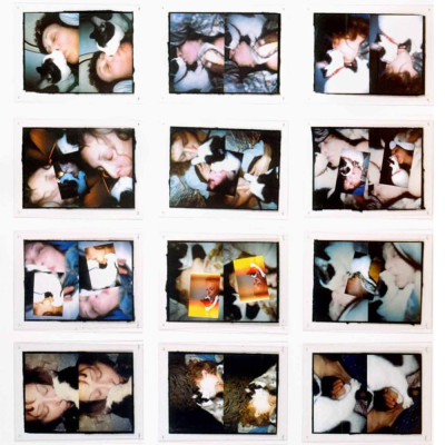 'Infinity Kisses II (Vesper)', 1990–98, laser prints, 24 self-shot laser prints, 50.8 × 66 cm each, 345.4 × 287 cm overall
