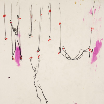 Carolee Schneemann, 'Magnetization Reaching' (detail), 1968. Image courtesy of the Artist and P.P.O.W., New York; Galerie Lelong, New York; Hales Gallery, London.