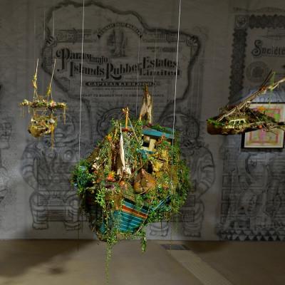Hew Locke, 'Off Shore Drift', 2014, installation view at Hales London, autumn 2014