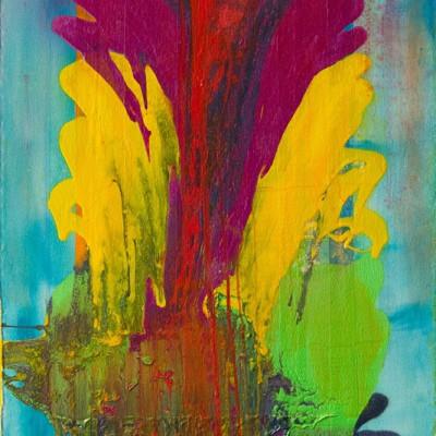 Frank Bowling, Think Tree, 2015, (detail)