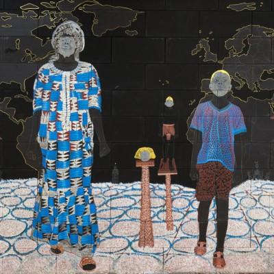 Omar Ba, Clin d'œil à Cheikh anta Diop-Un continent à la recherche de son histoire, 2017
