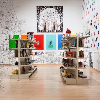 Makeshift installation view at the John Michael Kohler Arts Center, 2018. Photo courtesy of John Michael Kohler Arts Center.