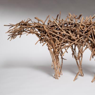 """<span class=""""artist""""><strong>Deborah Butterfield</strong></span>, <span class=""""title""""><em>Small Dry Fork Horse</em>, 1978</span>"""