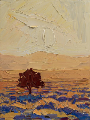 Jivan Lee, The Lone Pinon at Sunset