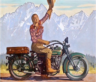 Dennis Ziemienski, Harley in the Tetons