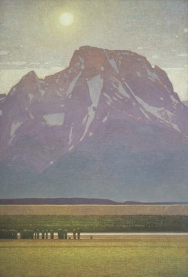 David Grossmann, Mount Moran with Late Afternoon Sun