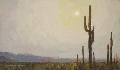 David Grossmann, Saguaro with Morning Sun