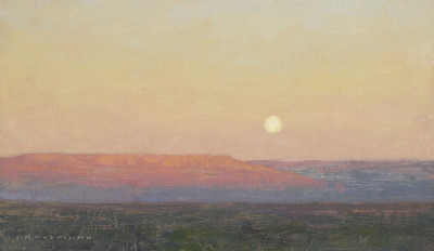 David Grossmann, The Mesa with Full Moon