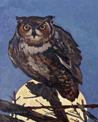 Dennis Ziemienski, Owl in Moonlight