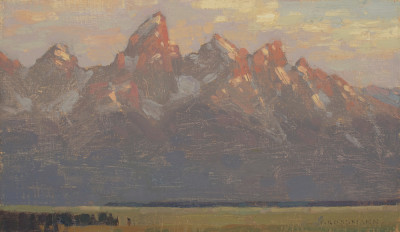 David Grossmann, Teton Sunrise with Clouds