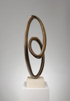 Richard Fox Born 1965Bronze Ravel VIII signed and titled on underside of bronze number 1 from an edition of 9 cast in 2018 bronze on sandstone base 86.5 cms (H) 34 ins