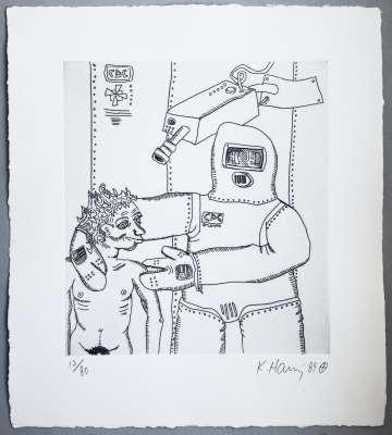 Keith Haring, Robot and Man, 1989