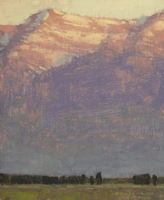 David Grossmann, Sunrise Light Above the Valley, Study