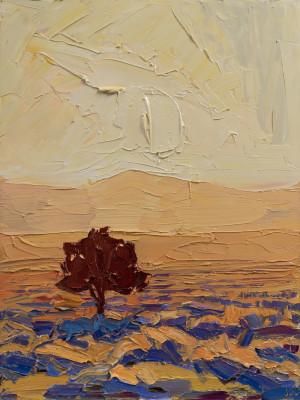 Jivan Lee, The Lone Pinon at Sunset