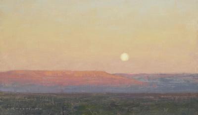 David Grossmann, The Mesa with Full Moon