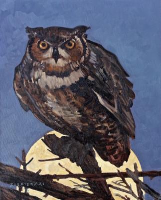 Dennis Ziemienski, Owl in Moonlight