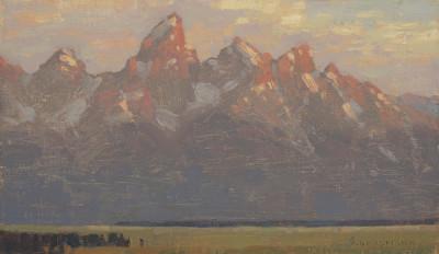 David Grossmann, Teton Sunrise with Clouds