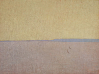 David Grossmann, Two Hawks with Yellow Sky
