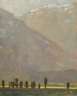 David Grossmann, Late Afternoon Light Near Antelope Flats, Study