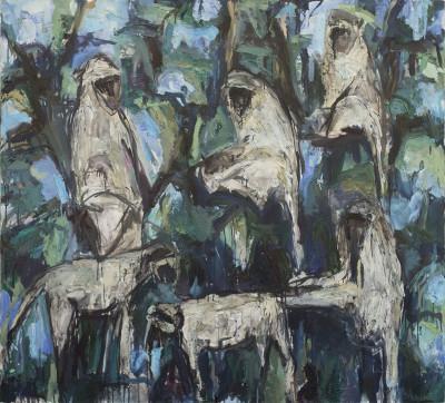 Theodore Waddell, Zambezi Monkeys, 1992