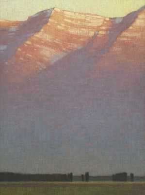 David Grossmann, First Morning Light Above the Valley